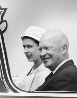 The Queen with Dwight Eisenhower in 1959 after taking part in the opening ceremony of the St Lawrence Seaway