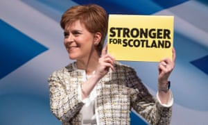Nicola Sturgeon at the SNP general election manifesto launch at SWG3, Glasgow