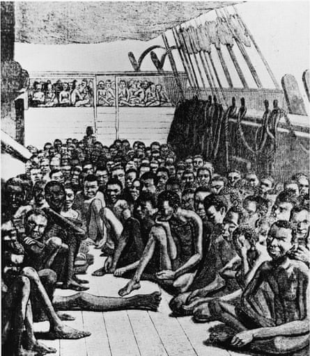 The deck of a slave ship, 1700s.