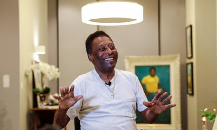 Pelé, seen here in November, will this summer mark celebrate the 50th anniversary of his third World Cup triumph.