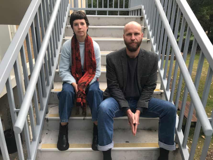 Writer/performers Noemie Huttner-Koros and Sam Fox, co-founders of Arts and Cultural Workers for Climate Action