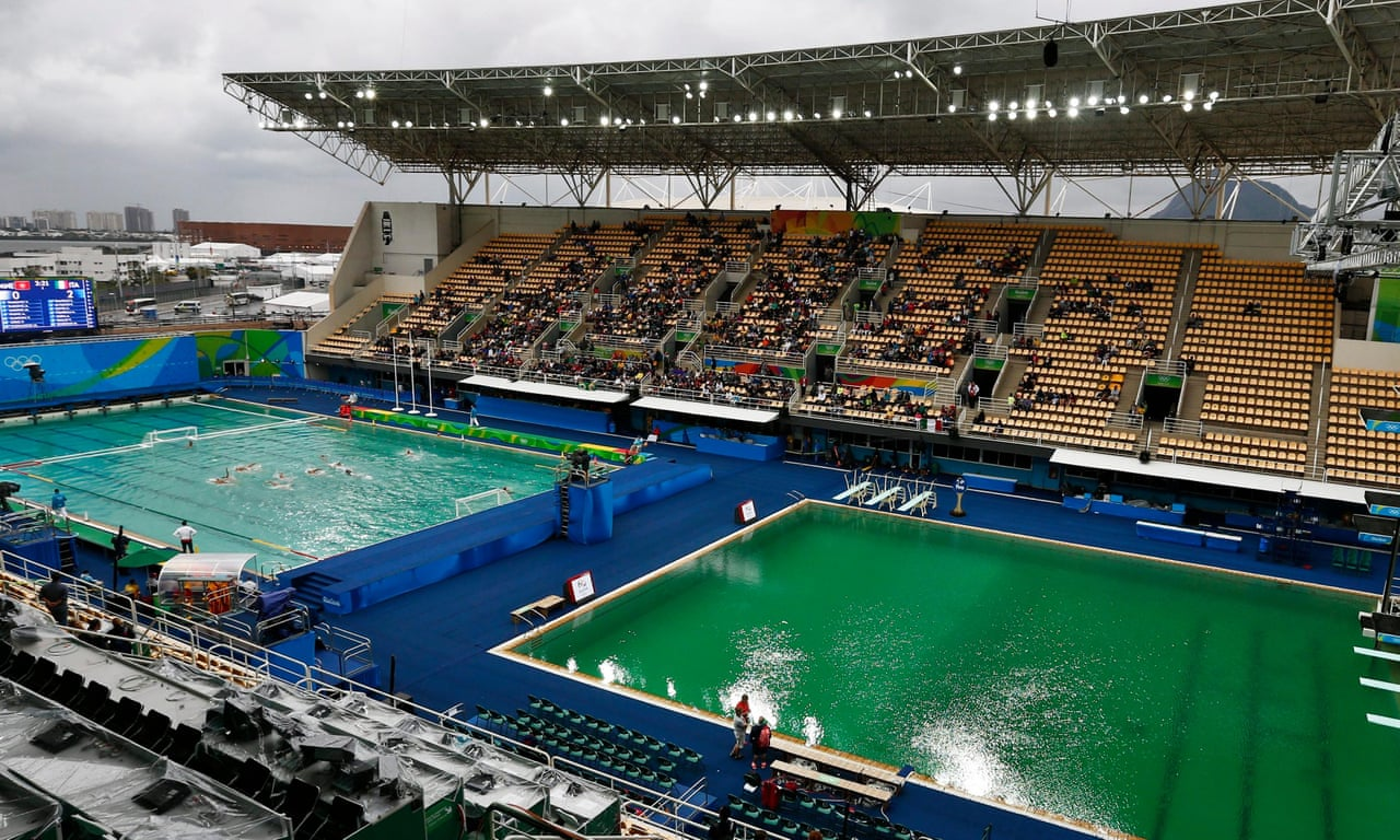 Why have the Rio Olympic pools turned green? – video | Sport | The ...