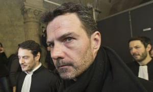 Jerome Kerviel leaves Paris court house in January 2016. Kerviel's deals lost the bank €4.9bn in 2007 and 2008.