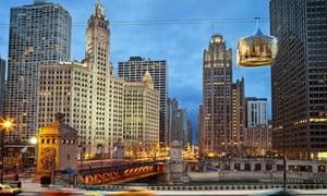 Chicago Skyline cable car