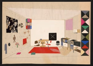 Collage of room display for An Exhibition for Modern Living, 1949
