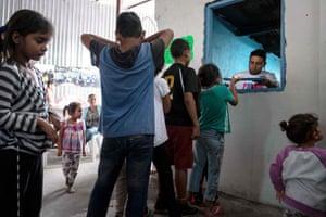 Tijuana, Mexico Asylum seeker children