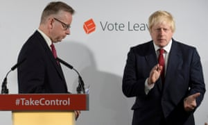 Michael Gove and Boris Johnson in London on June 24, 2016.