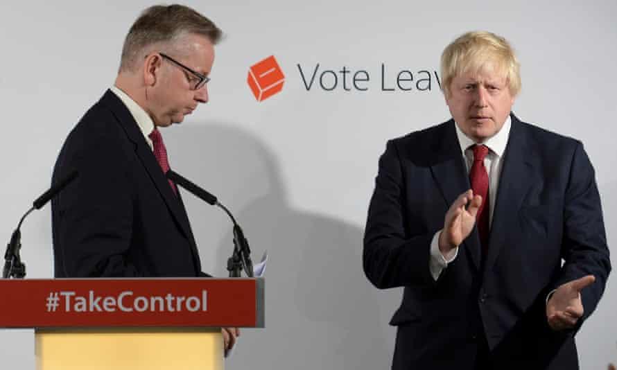 Michael Gove and Boris Johnson in London on June 24, 2016.