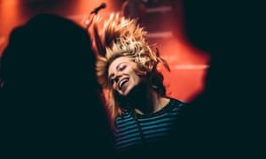 A woman dances at Patterns nightclub, Brighton, which hosts Ross from Friends this NYE.