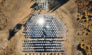 Heliogen's solar energy plant in Lancaster, California
