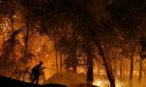 Wildfire in October 2019 in Somis, California.