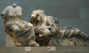 A Section of the Parthenon Marbles in the British Museum.