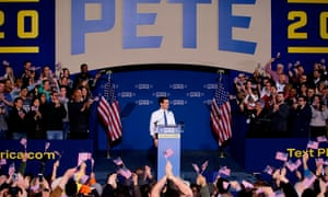 Pete Buttigieg announces his presidential candidacy for 2020 Sunday in South Bend, Indiana.