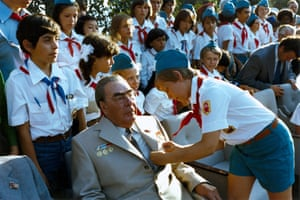 1970s Leonid Brezhnev in the 'Artek' pioneer camp in Gurzuf by Vladimir MusaelyanVladimir Musaelyan, the author of this photograph of the former Soviet leader Leonid Brezhnev, won a World Press Photo award in 1977 for capturing the moment Brezhnev met the Chilean communist leader Luis Corvalán after his release from prison by the Chilean junta