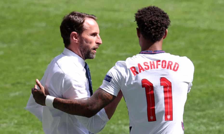Gareth Southgate and Marcus Rashford