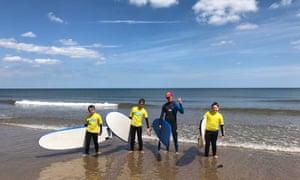 Northside Surf School on beach