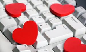 .Hearts on a keyboard