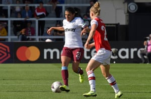 Kenza Dali in action for West Ham against Arsenal.