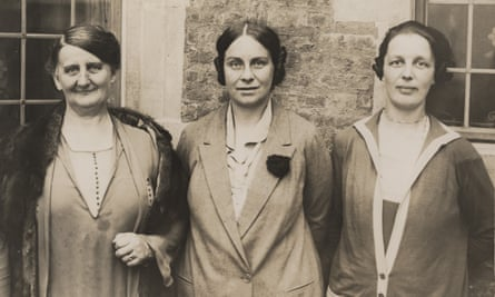 Women's Engineering Society founding members Laura Willson, Caroline Haslett (its first secretary) and Margaret Partridge.