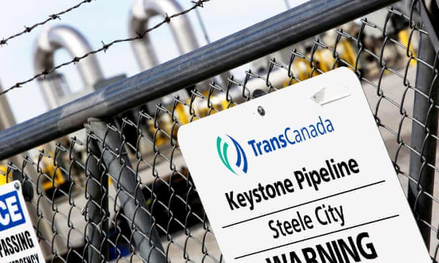 A TransCanada Keystone Pipeline pump station operates outside Steele City, Nebraska.