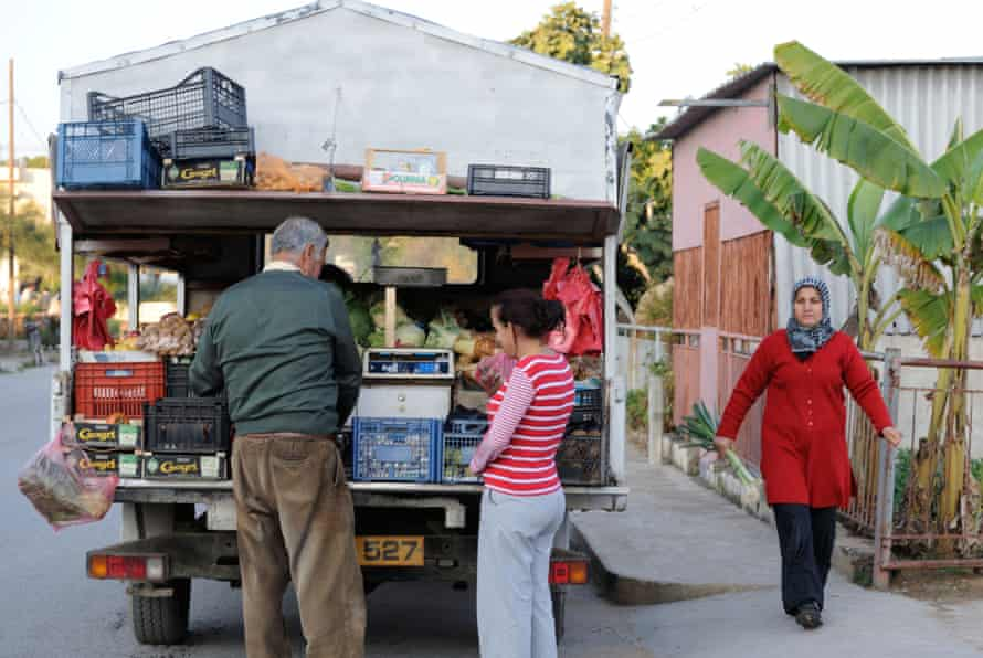 A mobile food shop in Famagusta, northern Cyprus