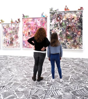 Pre-lockdown … Athena Papadopoulos's Cain and Abel Can't and Able at the Mostyn gallery, Llandudno.
