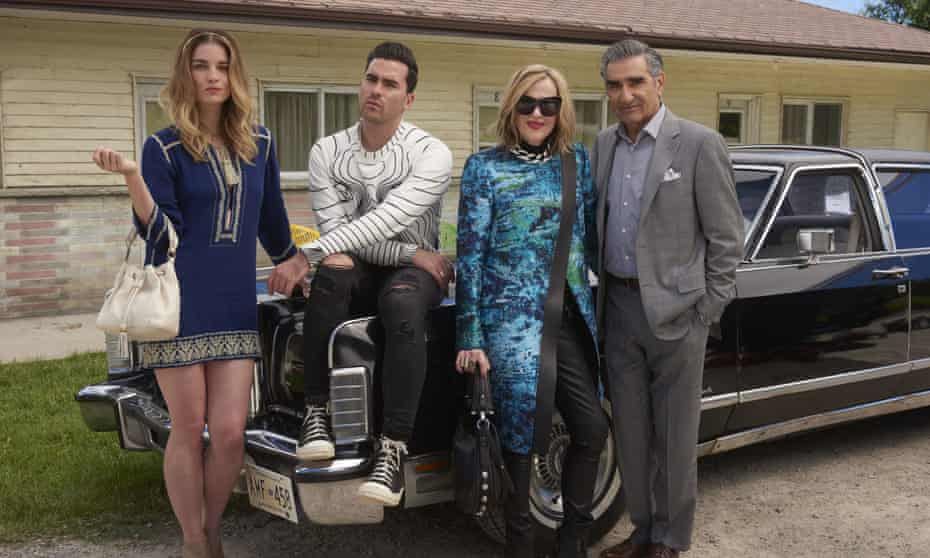 Annie Murphy, Daniel Levy, Catherine O'Hara and Eugene Levy in Schitt's Creek