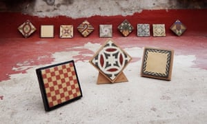 A small selection of the 30,000 tiles bearing 1,800 unique designs that Joel Cánovas has collected.