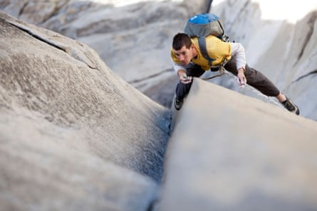 Alex Honnold solos the Nose on El Capitan in Yosemite national park, California.