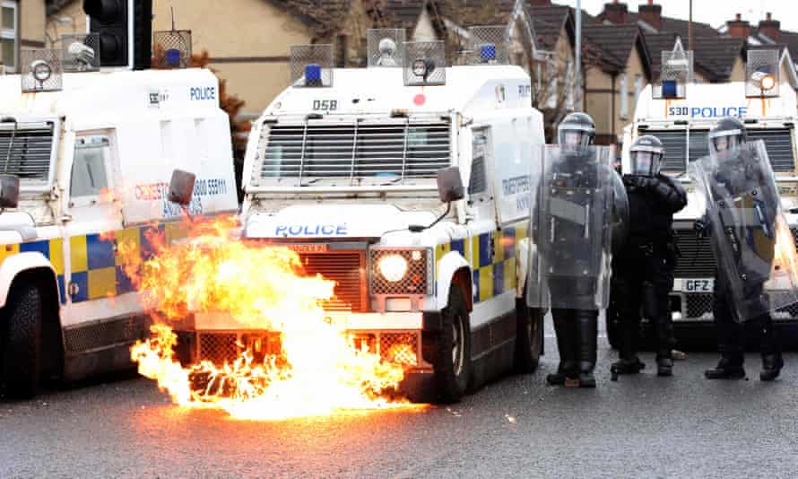 Northern Ireland police faced a seventh night of unrest on Thursday, this time from nationalists.