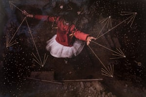 Yael Martinez (Mexico): Constellation. From the series Firefly, 2020 Martínez's work addresses fractured communities in his native Mexico. He often works symbolically to evoke a sense of emptiness, absence and the pain suffered by those in the region.
