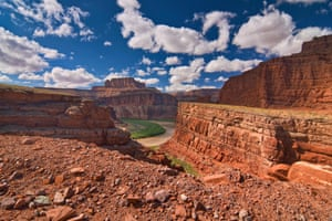 Colorado River in Shafer Canyon, from Potash Road, Bears Ears National Monument, near Canyonlands National Park, Utah, USA