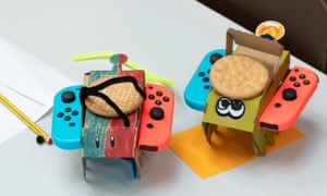 Remote-controlled cars made using Nintendo Labo.