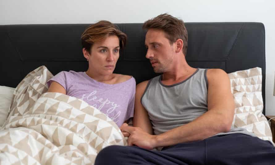 There is just something off about him ... Perry Fitzpatrick as Adam and Vicky McClure as Nicola.