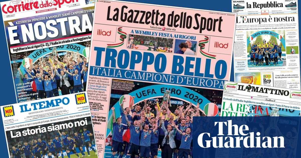 'We conquered Wembley': Italian press reacts to Euro 2020 victory
