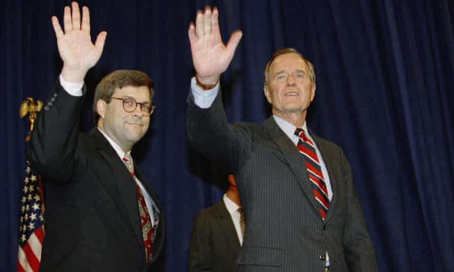 William Barr with President George HW Bush, in 1991.