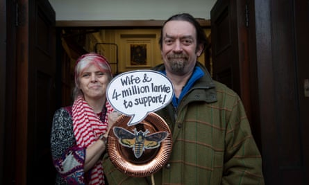 Pea Restall (left) and her husband, Dave McQuillan, outside the Peculiar Gallery in Abergele.
