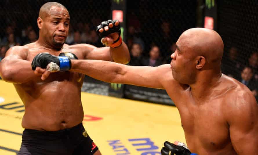 Daniel Cormier avoids a blow from Anderson Silva