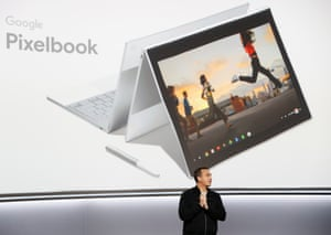 Google's Vokoun speaks during a launch event in San FranciscoGoogle product manager Matt Vokoun speaks about the Pixelbook laptop during a launch event in San Francisco, California, U.S. October 4, 2017. REUTERS/Stephen Lam