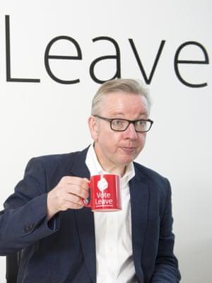 Michael Gove Michael Gove at the Vote Leave HQ in 2016