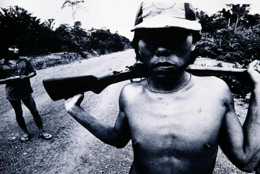 Andujar photographs tribespeople in 1981.
