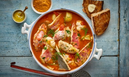 For an outstanding bouillabaisse, try French Country Cooking by Albert and Michel Roux.