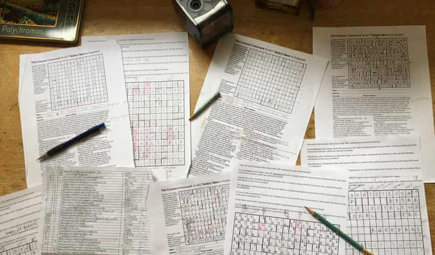 Sheets of paper with workings out of the Listener 4677 puzzle