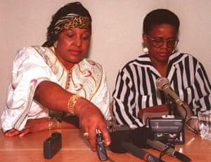 Winnie Mandela with her lawyer, N Malefane