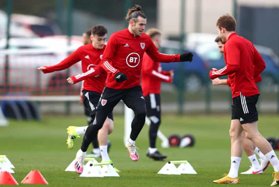 Wales prepare on Tuesday for their World Cup qualifier against Belgium.