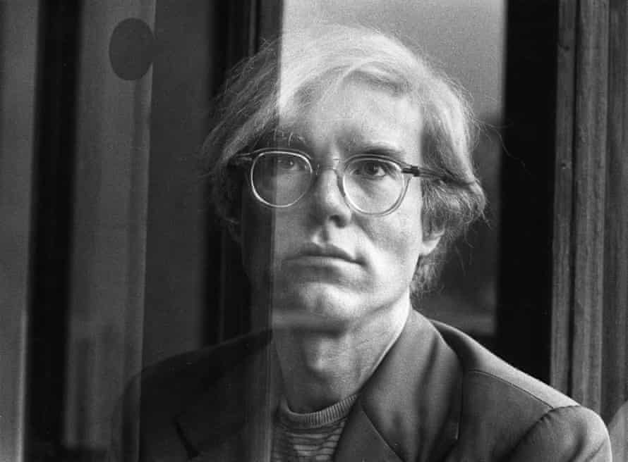Andy Warhol, 1970. Sally Soames photographed the artist through a gauze curtain, a subtle rejoinder to his studied aloofness.