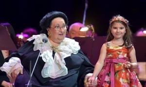 Montserrat Caballé and her granddaughter Daniela Montserrat Caballé in concert at the State Kremlin palace, Moscow on 6 June 2018