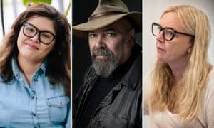 Australian playwrights Nakkiah Lui, Richard Frankland and Suzie Miller
