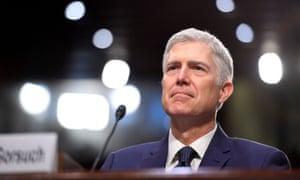 Trump's supreme court pick, Neil Gorsuch.