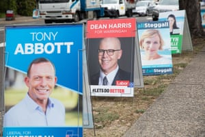 A pre poll booth in Brookvale. Seat of Warringah. NSW. Australia.
